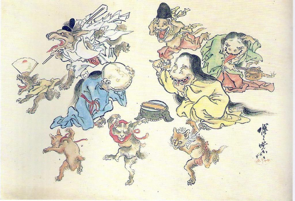 Bild:(1.32 MB)K.C. Quelle:https://commons.wikimedia.org/wiki/File:Hyakki_Yako.jpg Lizenz: puplic domain